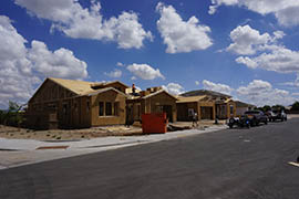 A home under construction in Gilbert in 2012.