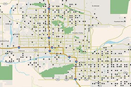 Click the map to find out if your area has a mosquito trap site.