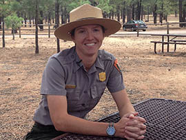 Holly Richards, supervisory park ranger for Sunset Crater National Park, talks about ways the park can encourage more visitors.