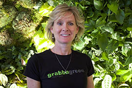 Kelley Bird, co-owner of Grabbagreen restaurants, attended the Get Big Game Day Ready seminar to learn how to enhance her company's online presence for Super Bowl visitors.
