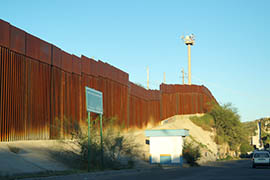 The Nogales, Sonora side of the fence at the border.