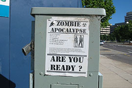 Arizona would be ready for a zombie apocalypse, according to recent reports that ranked states on obesity - good for zombies - and gun ownership - bad for zombies - among other measures.