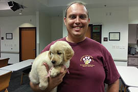 Brian Daugherty is the CEO and founder of Arizona Goldens LLC, a company that raises, trains and places service dogs nationwide with adults and children with disabilities.