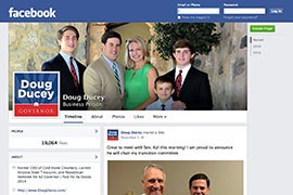 Republican Doug Ducey won the Arizona governor's race Tuesday with a Facebook presence with fewer likes and less buzz on Election Day than Democratic opponent Fred DuVal.