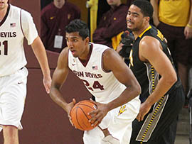 Sai Tummala, a junior forward on the Arizona State men's basketball team, is studying to become an orthopedic surgeon as a student in Barrett, the Honors College.