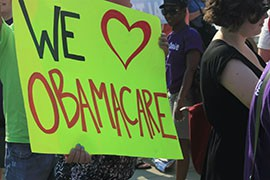 Affordable Care Act supporters outside the Supreme Court in 2012. The court upheld the law then, but the justices this month agreed to hear another challenge to the act that is often called Obamacare.