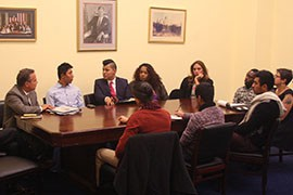 Immigration and gay-rights groups met with congressional representatives to urge Washington to include protections in any immigration reform measures for gay immigrants who are here illegally.