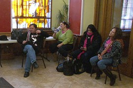 Hunger strikers, including former Arizona resident Alejandra Sanchez, right, broke their fast Thursday after President Barack Obama unveiled his own plan for immigration reform.