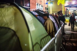 In past years, crowds of shoppers have camped out in advance of  Black Friday store openings to get first crack at deals.