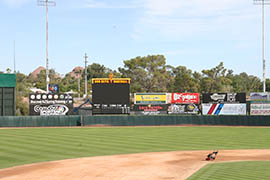 By moving a few miles away to the former baseball spring training home of the Oakland Athletics, the Sun Devils will gain a major league-sized outfield, adding 7 feet to right and left field and 15 feet in center field from what the team has had at Packard Stadium.