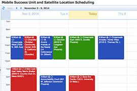 Click to view a calendar of where the Mobile Success Unit will go next.
