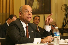 Homeland Security Secretary Jeh Johnson, here in a December file photo, is confident the court stay of the president's executive action on immigration will be overturned, but that until then the department has no choice but to delay the program.