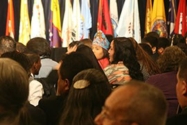 A total of 36 youth ''ambassadors'' - selected through an essay contest - were sent to Washington by tribes across the country to represent them at the 2014 White House Tribal Nations Conference.