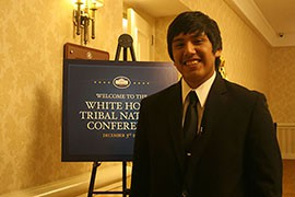 Blackwater high school senior Darius Jackson, 18, was picked to represent the Gila River Indian Community at the White House Tribal Nations Conference, one of 36 youths tapped to represent their tribes at the 2014 event.