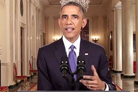 President Barack Obama in the Nov. 20 speech when he said he would take immigration action on his own since Congress had failed to act. Several states, including Arizona, have sued to stop what they call an illegal overreach by the president.