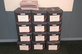 Judicial Watch printed out the 42,000 pages of documents related to Operation Fast and Furious that it got through a Freedom of Information Act request to the Justice Department.