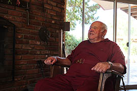 Eddie Pattillo, shown at his Kingman home, had cancer of the urinary tract in 2000 and was recently diagnosed with colon cancer.