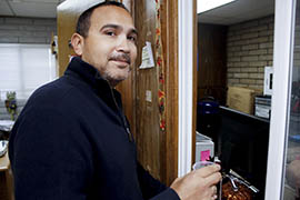 Richie Rubi, 38, prepares to take his daily dose of methadone at the Yuma Treatment Center on Nov. 21. A police officer found heroin, a needle and a spoon in Rubi's rental car during a stop on May 23, 2012.
