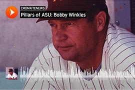 In this audio report, Bobby Winkles shares stories about building Arizona State University's baseball program. Use the icons at top right to download or share it.