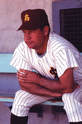Former players including major leaguers Sal Bando and Rick Monday said Bobby Winkles combined discipline with attention to an individual's education and life beyond the field.