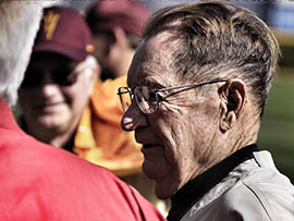 Bobby Winkles attends an ASU event.