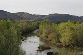 The Verde River flows near the community of Clarkdale.