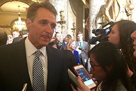Sen. Jeff Flake, R-Arizona, said there were some parts of the speech to like - trade and Cuba - and others, like tax increases, to dislike.