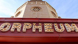 The sign above the entrance of the famed Orpheum Theatre in Downtown Phoenix.