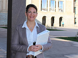 State Sen. Kelli Ward, R-Lake Havasu City, co-sponsored a bill that would allow candidates for public office to request that their home addresses remain secret. She said the change would keep candidates safer.
