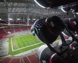 With new lighting at the University of Phoenix Stadium, Super Bowl XLIX will be the best lit in history.