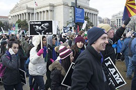 Students from St. Mary's Catholic High School in Phoenix and Notre Dame Preparatory High School in Scottsdale were among thousands in the 2015 pro-life March for Life in Washington.