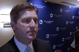 Phoenix Mayor Greg Stanton said he convened a group of experts to talk to mayors about what he called the ''inevitable impacts'' of climate change. Cronkite News' <b>Nihal Krishan</b> reports.