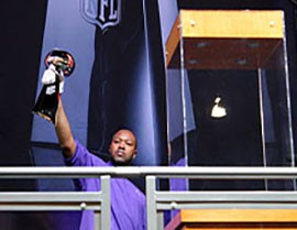 Super Bowl week is finally here and with it, the Vince Lombardi Trophy. Fans will get a chance to pose with one of the world's most coveted prizes throughout the week at the NFL Experience in the Phoenix Convention Center.