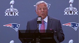 The Patriots arrived in Phoenix on Monday but did not leave the Deflate-gate controversy back home. Patriots' Owner Robert Kraft was the only one from the team who had anything to say about the issue. He wants to ensure the NFL takes actions for what he believes is their wrongdoing. Video by Kari Osep