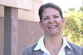 Sen. Kelli Ward, a physician from Lake Havasu City, says she is working with groups to encourage more participation in a voluntary state database tracking prescriptions for narcotics. But for now she's holding off on legislation to require it.