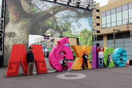 """The Mexican government hopes to show visitors at Super Bowl Central a different side of Mexico with its """"Live it to Believe It"""" exhibit."""