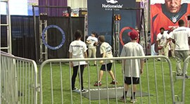 In the months before the Super Bowl, local kids worked to complete the NFL Play60 Challenge. They were rewarded by spending the day at the NFL Experience learning about healthy lifestyles.