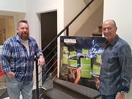 The Marijuana Companies leaders John Goreman and Howard Baer in their Scottsdale office.