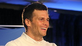 Patriots quarterback Tom Brady smiles as he talks about how much he has grown since he last won a Super Bowl and reflects on rookie Malcolm Butler's game-saving interception.
