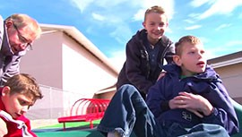Cronkite News reporter Mackenzie Scott visited Mountain View Elementary School and found out where the inclusive playground idea was sparked.