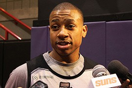Phoenix Suns guard Isaiah Thomas is looking forward to shooting three-pointers in the expanded Taco Bell Skills Challenge on All-Star Saturday.