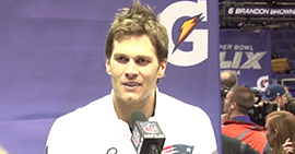 Tom Brady is one of the fiercest competitors in sports. We spoke to some of his teammates at Super Bowl XLIX Media Day about what it's like playing with one of the most intense teammates in the NFL.