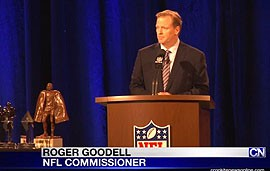 Roger Goodell took the podium Friday for his annual State of the League address to reporters. He took the time to apologize but also attempt to move the NFL forward.