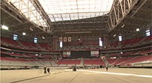 The Seahawks and Patriots — and the NFL's Pro Bowlers — will square off on the continent's only retractable grass field at University of Phoenix Stadium in Glendale.