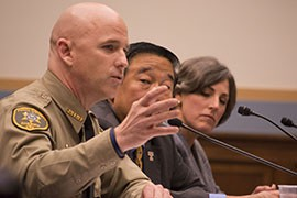 Pinal County Sheriff Paul Babeu in testimony before the House Judiciary Committee, where he said the federal government's failure to protect U.S. borders has led to increased crime.