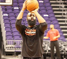 Former Arizona State standout James Harden hopes his jersey retirement provides an inspiration for young athletes and Sun Devils alike.