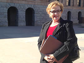 Cathi Herrod, president of the Center for Arizona Policy, a conservative advocacy group, is among those supporting a bill that would prohibit abortion coverage through the federal health insurance exchange available in Arizona.