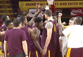 As the NCAA basketball season winds down, junior guard Gerry Blakes and sophomore forward Savon Goodman are doing their part to provide an offensive spark to the Sun Devils' lineup. Video by Kristin Kirby