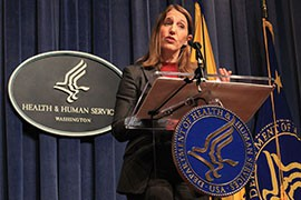 Health and Human Services Secretary Sylvia Burwell announces Obamacare enrollment for 2015, which topped 11.4 million nationally and more than 204,000 in Arizona - both increases from the year before.