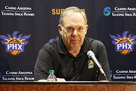 Phoenix Suns General Manager Ryan McDonough and President of Basketball Operations Lon Babby held a press conference Friday morning to address the chaos surrounding the final minutes of Thursday's NBA trade deadline. Kristin Kirby reports.